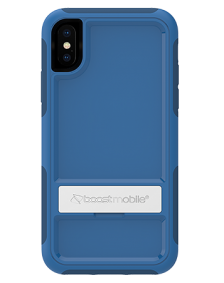 Picture of B-Tact Case w kickstand for Apple iPhone X/XS, Blue & Dark Blue