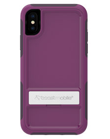 Picture of B-Tact Case w kickstand for Apple iPhone X/XS, Purple & Dark Purple