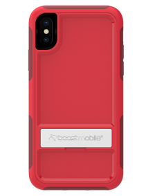 Picture of B-Tact Case w kickstand for Apple iPhone X/XS, Red & Dark Red