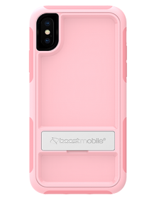 Picture of B-Tact Case w kickstand for Apple iPhone X/XS, Rose Pink & Pink