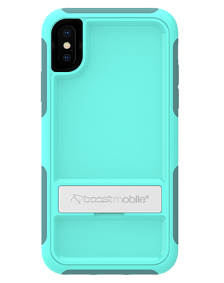 Picture of B-Tact Case w kickstand for Apple iPhone X/XS, Teal & Dark Green