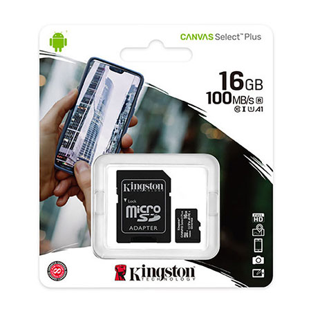 Picture of KINGSTON CANVAS SELECT PLUS MICROSD 16GB