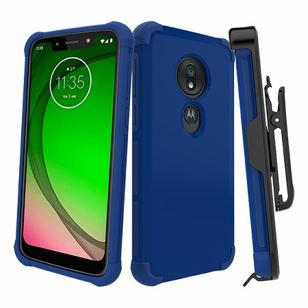 Picture of Secure Impact Case w Holster for Moto G7 Play, Blue