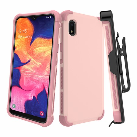 Picture of Secure Impact Case w Holster for Samsung A10e, Soft Pink
