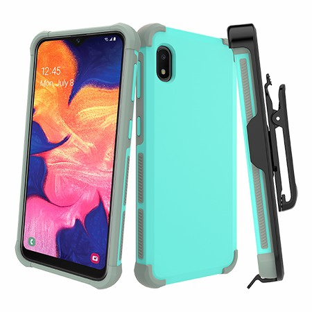 Picture of Secure Impact Case w Holster for Samsung A10e, Teal