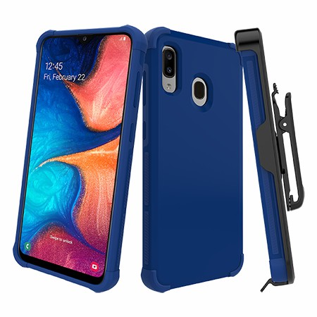 Picture of Secure Impact Case w Holster for Samsung A20, Blue