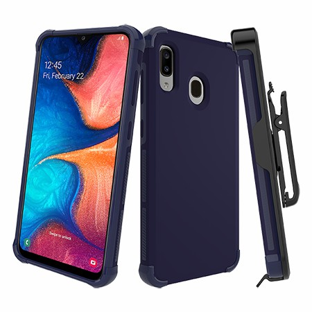 Picture of Secure Impact Case w Holster for Samsung A20, Dark Blue
