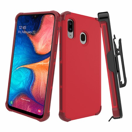 Picture of Secure Impact Case w Holster for Samsung A20, Red