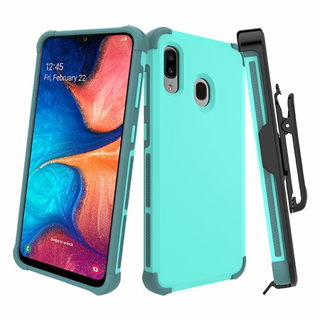 Picture of Secure Impact Case w Holster for Samsung A20, Teal