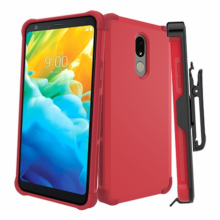 Picture of Secure Impact Case w Holster for LG Stylo 5, Red
