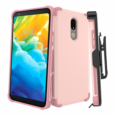 Picture of Secure Impact Case w Holster for LG Stylo 5, Soft Pink