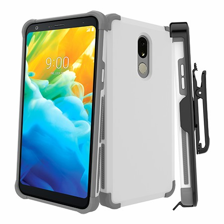 Picture of Secure Impact Case w Holster for LG Stylo 5, White