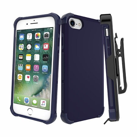 Picture of Secure Impact Case w Holster for iPhone 6s/7/8, Dark Blue
