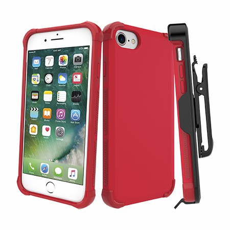 Picture of Secure Impact Case w Holster for iPhone 6s/7/8, Red