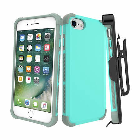 Picture of Secure Impact Case w Holster for iPhone 6s/7/8, Teal