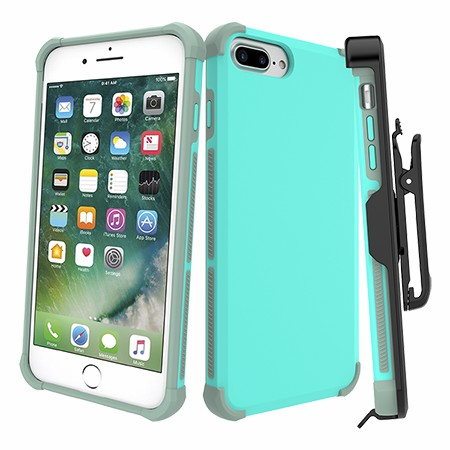 Picture of Secure Impact Case w Holster for iPhone 6s/7/8 Plus, Teal