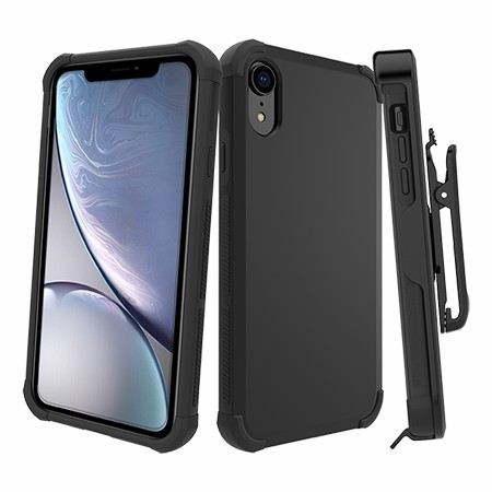 Picture of Secure Impact Case w Holster for iPhone XR, Black