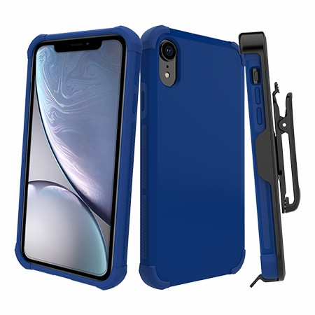 Picture of Secure Impact Case w Holster for iPhone XR, Blue