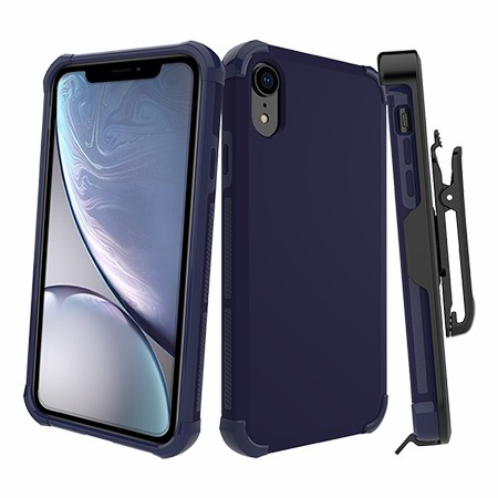 Picture of Secure Impact Case w Holster for iPhone XR, Dark Blue