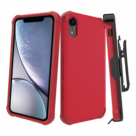 Picture of Secure Impact Case w Holster for iPhone XR, Red