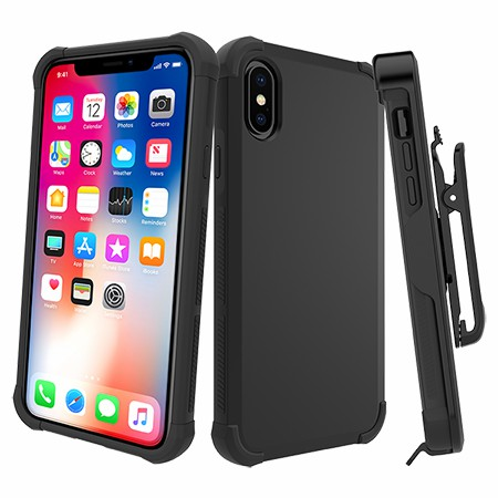 Picture of Secure Impact Case w Holster for iPhone X/Xs, Black
