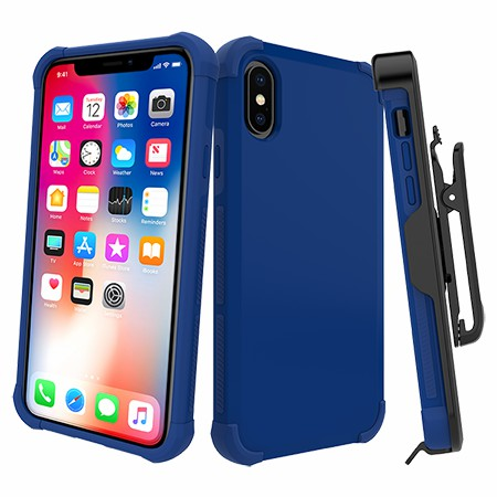 Picture of Secure Impact Case w Holster for iPhone X/Xs, Blue