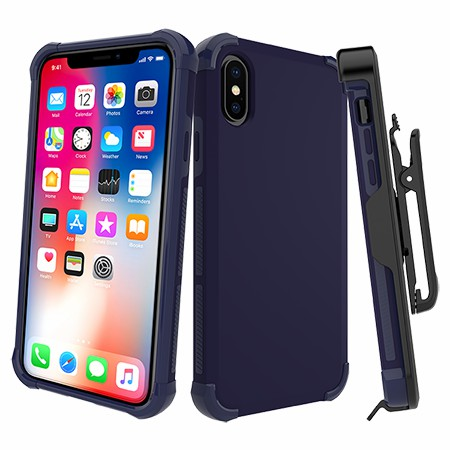 Picture of Secure Impact Case w Holster for iPhone X/Xs, Dark Blue