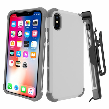 Picture of Secure Impact Case w Holster for iPhone X/Xs, White