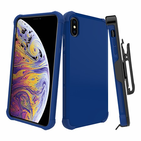 Picture of Secure Impact Case w Holster for iPhone Xs Max, Blue