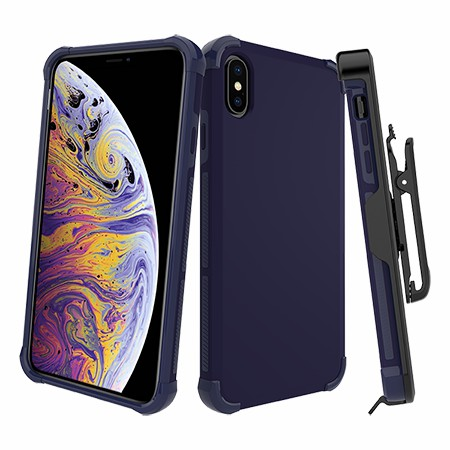 Picture of Secure Impact Case w Holster for iPhone Xs Max, Dark Blue
