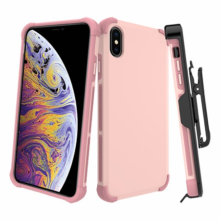 Picture of Secure Impact Case w Holster for iPhone Xs Max, Soft Pink