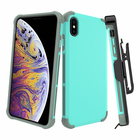 Picture of Secure Impact Case w Holster for iPhone Xs Max, Teal