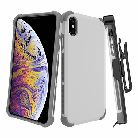 Picture of Secure Impact Case w Holster for iPhone Xs Max, White