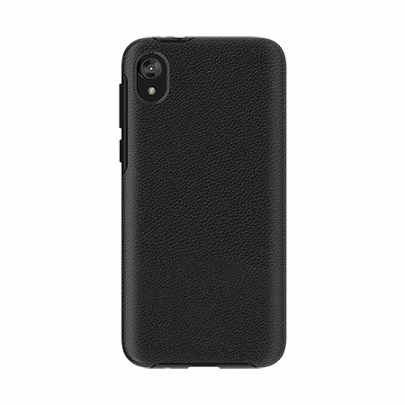 Picture of Supreme Leather Case for Moto E6 Play, Black