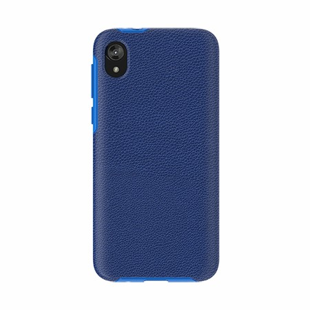 Picture of Supreme Leather Case for Moto E6 Play, Blue