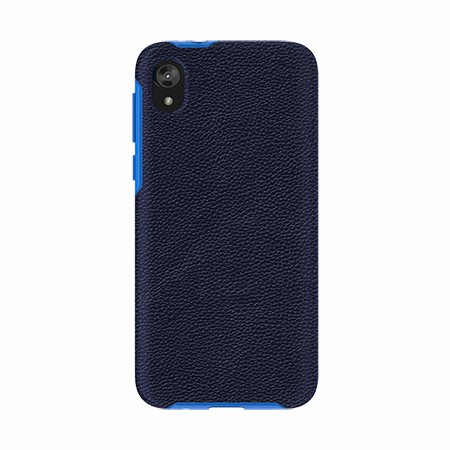 Picture of Supreme Leather Case for Moto E6 Play, Dark Blue
