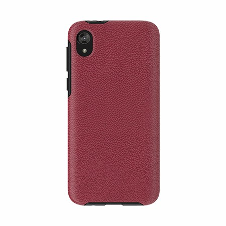 Picture of Supreme Leather Case for Moto E6 Play, Red