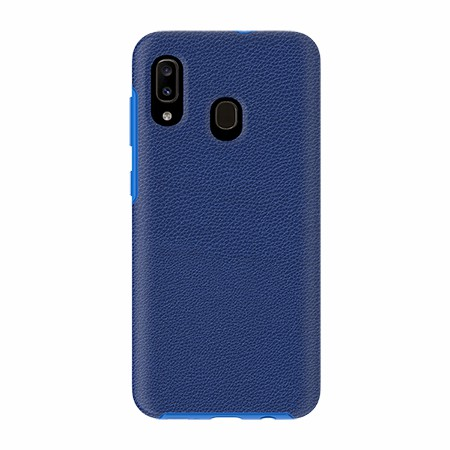Picture of Supreme Leather Case for Samsung A20, Blue