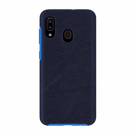 Picture of Supreme Leather Case for Samsung A20, Dark Blue