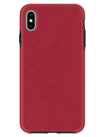 Picture of Supreme Leather Case for Apple iPhone Xs Max, Red