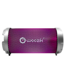 Picture of Woozik S213 LED Portable Party Wireless Speaker, Silver w/ Pink LEDs