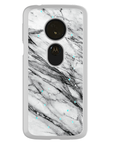 Picture of Motorola Moto G6 Play Sparkle Marble Series Case, Black & White