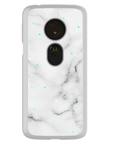Picture of Motorola Moto G6 Play Sparkle Marble Series Case, White