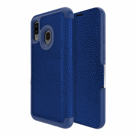 Picture of Sparta Folio Case for Samsung A20, Blue