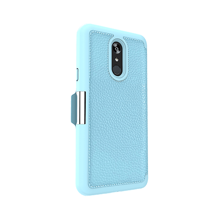 Picture of Sparta Folio Case for LG Stylo 4/4+, Soft Blue