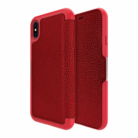 Picture of Sparta Folio Case for Apple iPhone Xs Max, Red
