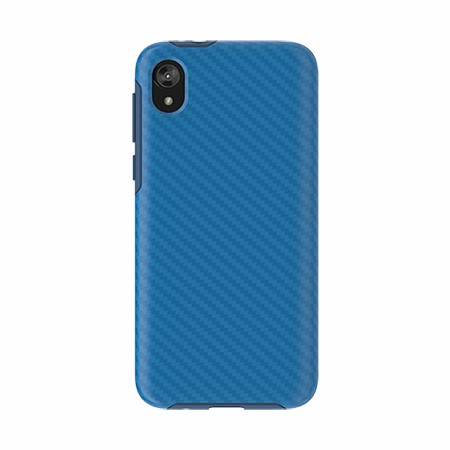 Picture of Supreme Series Case for Moto E6 Play, Blue Carbon Fiber