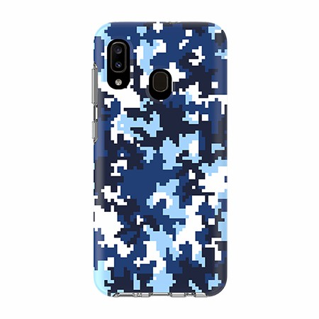 Picture of Supreme Series for Samsung A20, Blue Pixel Camo