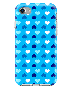 Picture of Apple iPhone 7 & 8 Supreme Series Case, Blue Hearts