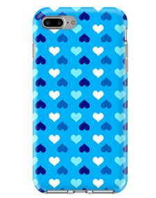Picture of Apple iPhone 7 Plus & 8 Plus Supreme Series Case, Blue Hearts
